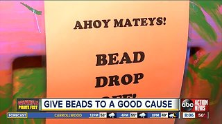 You can donate your Gasparilla beads to a good cause