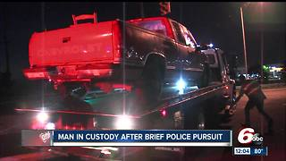 Man arrested after short chase on Indy's southeast side - Video