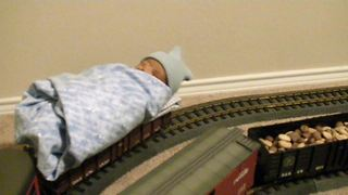 Take A Look At This Baby's First Train Ride - Video
