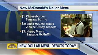 McDonald's debuts its new dollar menu - Video