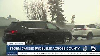 Storm causes problems across county