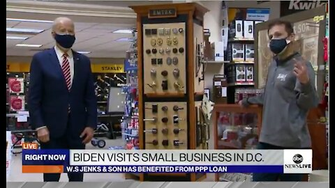 As Nation Collapses, Biden Shuffles & Mumbles At The Hardware Store