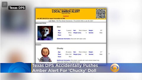 FW: Texas Accidentally Posts Amber Alerts for Chucky, the Killer Doll, and His Creepy Eunuch Son