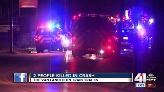 Two people die after van flips onto KCK tracks, gets hit by oncoming train - Video