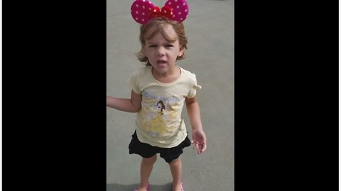 Little girl over the moon after DisneyWorld surprise