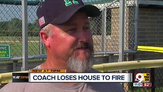 Harrison rallies behind coach after house fire - Video