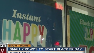 Small morning crowds on Black Friday - Video