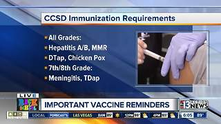 Important vaccine reminders - Video