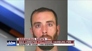 Man arrested in connection to Hamburg fire