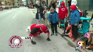 99th Findlay Market Opening Day Parade: Stay warm with pushups - Video