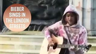 Justin Bieber goes busking in London
