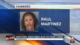 A Naples Man Allegedly Fired a Gun Outside his Home - Video