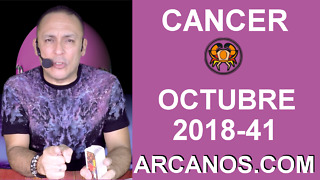 HOROSCOPO CANCER-Semana 2018-41-Del 7 al 13 de octubre de 2018-ARCANOS.COM - Video