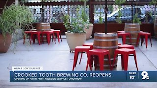 Crooked Tooth Brewing Co. reopens patio for dining services