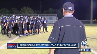 Palm Beach County football coaches are rapidly leaving - Video