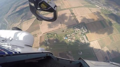 Extreme helicopter skydives captured on camera