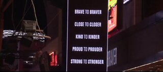 Remembrance ceremony at Fremont Street Experience