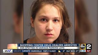 Shopping center drug dealers arrested - Video