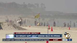 Most San Diegans obey rules, excited about weekend beach re-opening