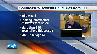 Wisconsin child dies from flu, Dept. of Health Services says