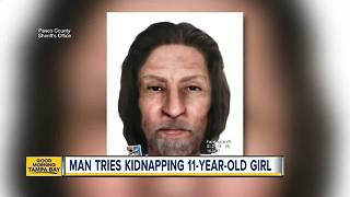 Deputies looking for man who tried to kidnap an 11-year-old off her bike in Pasco County - Video