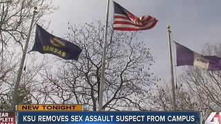 Suspect in K-State rape removed from campus - Video