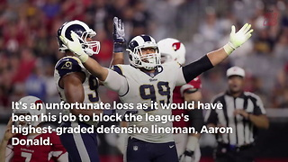 Falcons Lose Starting Lineman Right Before Playing Aaron Donald - Video