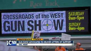 Gun show advocates to deliver letters of support - Video