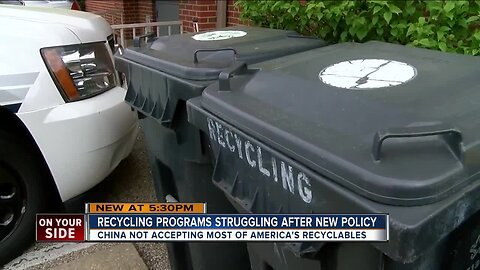 Recycling programs struggle after new policy