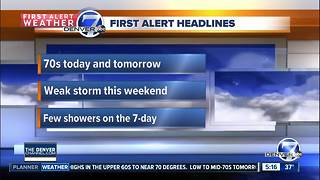 Wednesday forecast: Chilly morning, warm afternoon