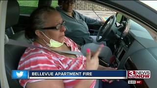 Apartment fire leaves people with homes