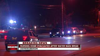 51 patients evacuated after water line break - Video