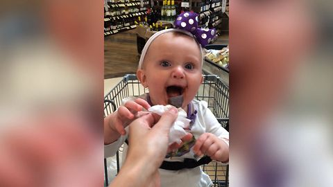 Baby Giggles After Discovering Chocolate For The First Time