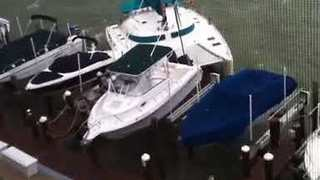 Unmanned Catamaran Breaks Anchor in High Winds, Crashes Into Other Boats - Video