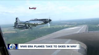 Heritage Flight shows off WWII-era airplanes for people across Western New York - Video