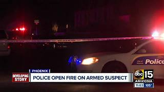 Police open fire on armed suspect in Phoenix - Video