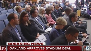Oakland city council votes to approve proposal for stadium - Video