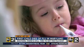 First flu-related pediatric death confirmed in Maryland - Video