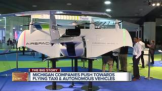 Michigan companies push towards flying taxis and autonomous vehicles - Video