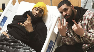Drake Visits Odell Beckham Jr in the Hospital - Video