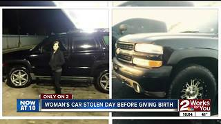 Tulsa woman expecting to give birth Tuesday has her family truck stolen overnight - Video