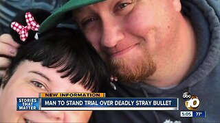 Man to stand trial over deadly stray bullet