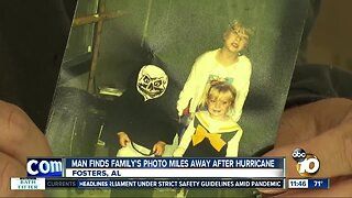 Man finds family's photo miles away after hurricane