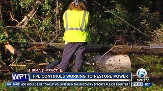 FPL crews working to restore power - Video
