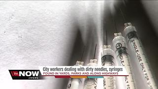 When the heroin problem hits your front yard, neighbors find needles on their properties - Video