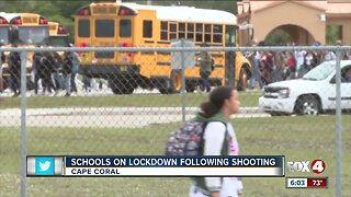 Schools on lockdown after nearby shooting