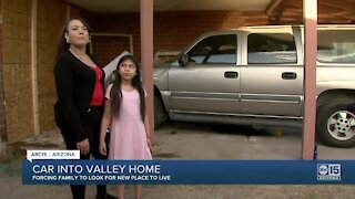 Car crashes into home after shooting, family forced to find new place to live