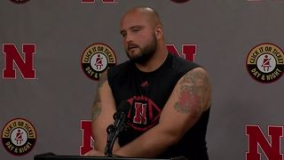 Nebraska football preseason press conference: Tanner Farmer - Video