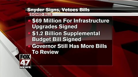 A look at lame-duck bills that Snyder signed, vetoed