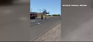 Boulder City police officer involved in crash with motorcyclists
